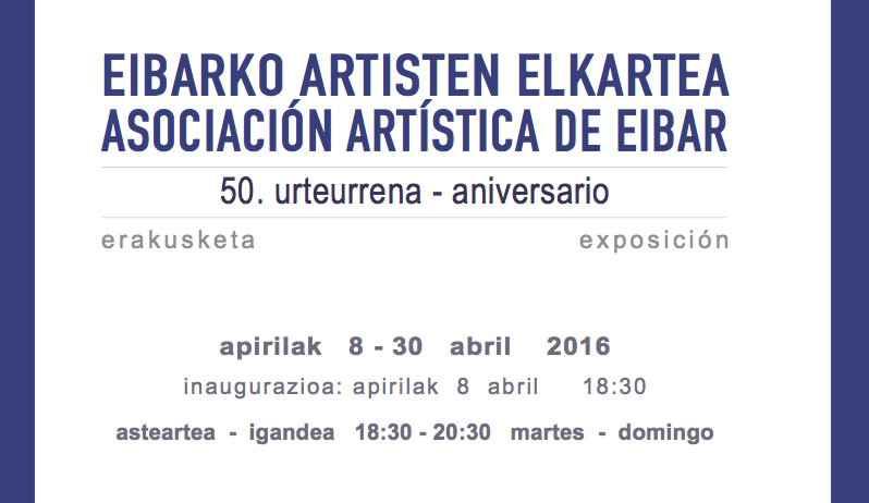 Nueva exposición de la Asociación Artística de Eibar para celebrar su cincuentenario